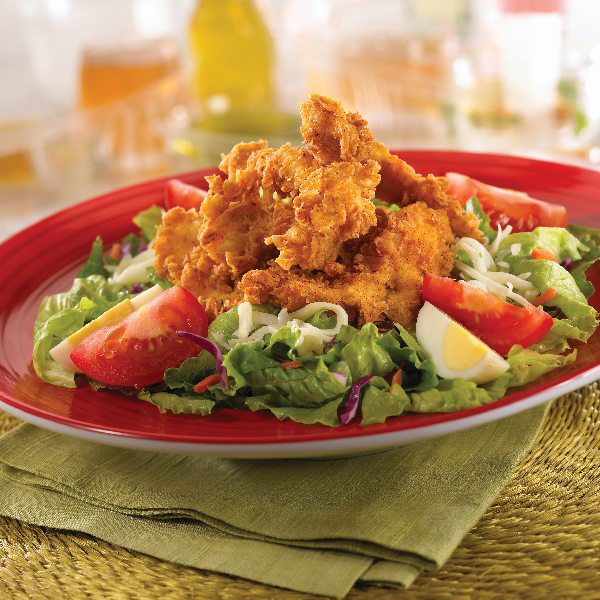 served with our tangy barbecue vinaigrette cajun fried chicken salad